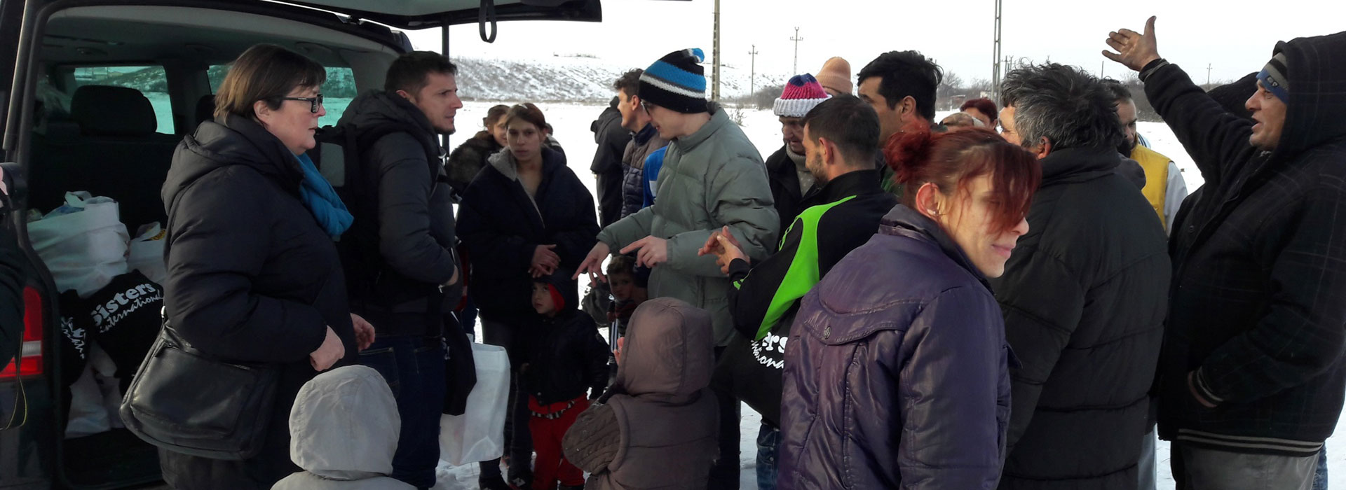 Besök vid soptippen utanför Oradea