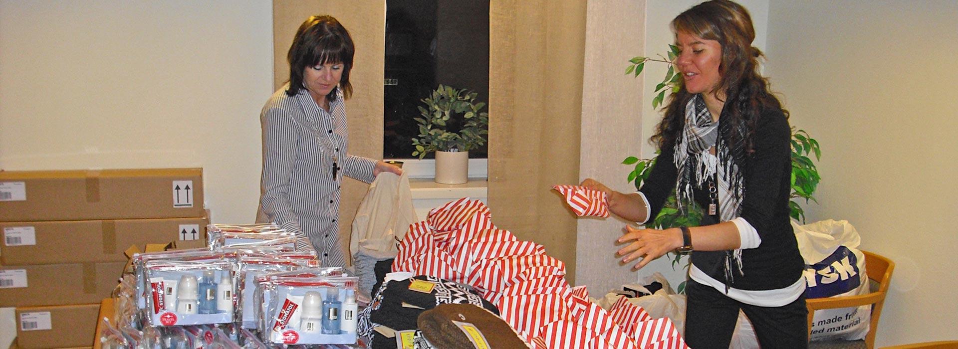 Stor glädje bland hemlösa över generösa gåvor